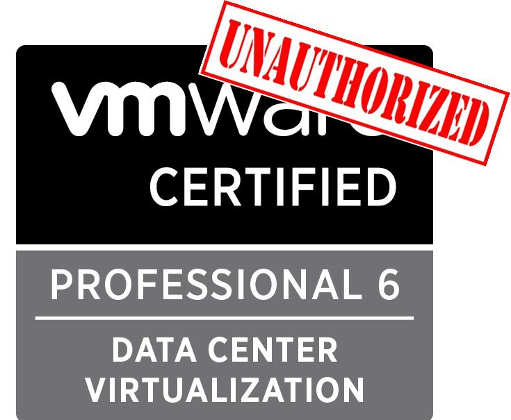 VMware Unauthorized VCP