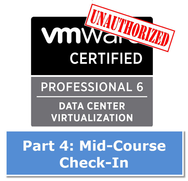 VMware VCP - Stanly.edu Certification Takeaway